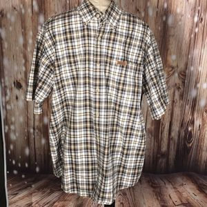 Men's Carhartt Plaid Short Sleeved Shirt L